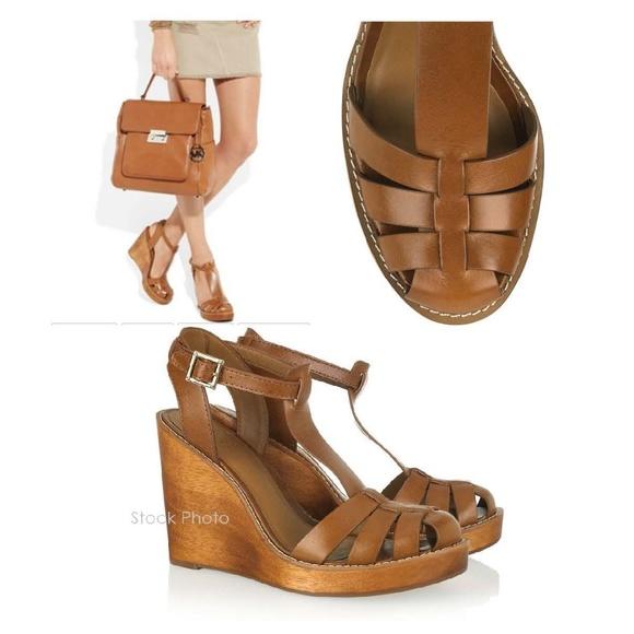 2f290807cde6 Tory Burch River T-Bar Wedge Sandal Size 10. M 5a58fd45b7f72b9ddaa19d3d